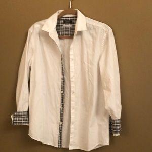 Alfani white button down shirt
